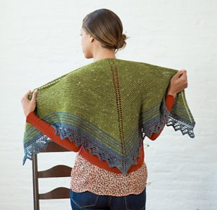 The Fibre Company Acadia Quaking Aspen Shawl Kit - Scarf and Shawls
