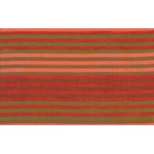 Kaffe Fassett Woven Stripe Fabric - Caterpillar Stripe - Tomato