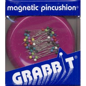 Blue Feather Products Grabbit Magnetic Pincushion - Raspberry