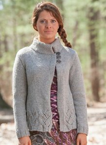 Classic Elite MountainTop Blackthorn Birchfield Cardigan Kit - Women's Cardigans
