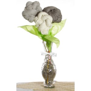 Jimmy Beans Wool Koigu Yarn Bouquets - Malabrigo Uno Dos Tres Bouquet - Greys