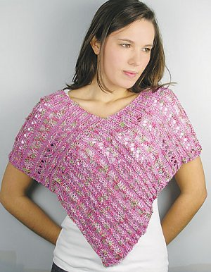 Knit One, Crochet Too Patterns - Summer Floral Poncho Pattern