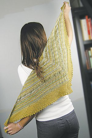 Knit One, Crochet Too Patterns - Vintage Colors Shawlette Pattern
