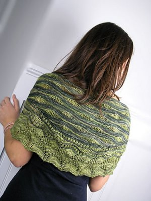 Knit One, Crochet Too Patterns - Sea Lettuce Shawl Pattern