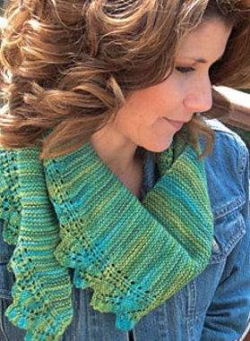 Knit One, Crochet Too Patterns - Garter Fern Scarf Pattern