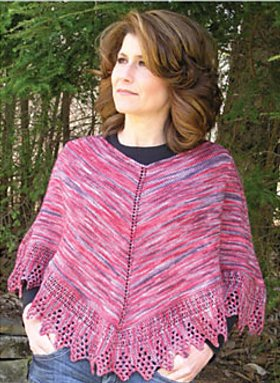 Knit One, Crochet Too Patterns - Lace Edge Poncho Pattern