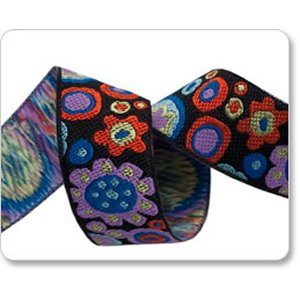 Renaissance Ribbons Kaffe Fassett Ribbon Fabric - Paperweight - Black - 7/8""