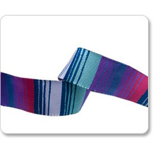 Renaissance Ribbons Kaffe Fassett Ribbon Fabric - Phase Stripes - Blue and Purple - 7/8""