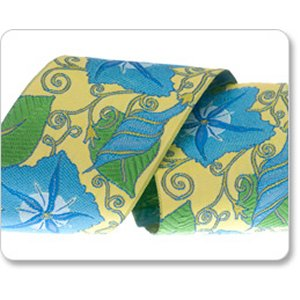Renaissance Ribbons Laura Foster Nicholson Ribbon Fabric - Morning Glory - Blue - 2""