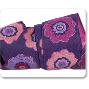Renaissance Ribbons Laura Foster Nicholson Ribbon Fabric - Primrose - Purple - 1-1/2""