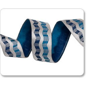 Renaissance Ribbons Laura Foster Nicholson Ribbon Fabric - Double Waves - Indigo - 5/8""