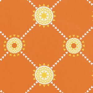 Jenean Morrison Beechwood Park Fabric - Reunion - Orange
