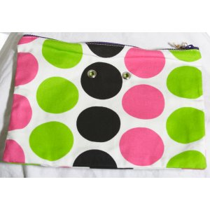 Top Shelf Totes Yarn Pop - Double - Black & Pink Dots