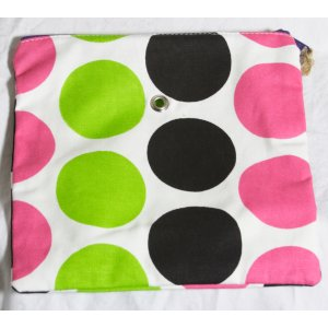 Top Shelf Totes Yarn Pop - Single - Black & Pink Dots