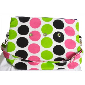 Top Shelf Totes Yarn Pop - Totable - Black & Pink Dots