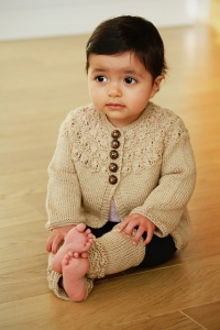 Fyberspates Scrumptious 4 ply/Sport Corlyna Cardigan Kit - Baby and Kids Cardigans