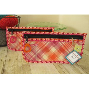 Chicken Boots Notions Case - Plaid