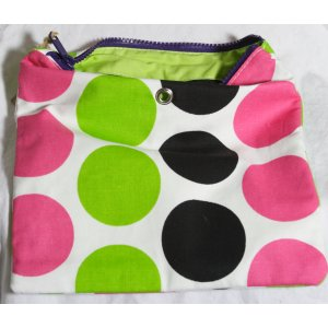 Top Shelf Totes Yarn Pop - Gadgety - Black & Pink Dots