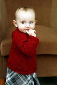 Fyberspates Scrumptious 4ply/Sport Kaelyn Cardigan Kit - Baby and Kids Cardigans