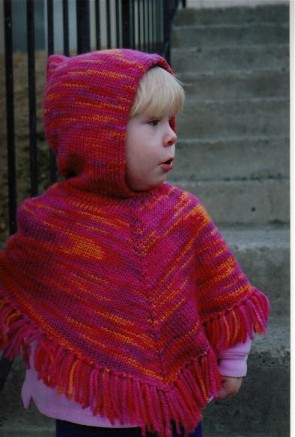 Knitting Pure and Simple #243 Children's Poncho Kit - Baby and Kids Ponchos