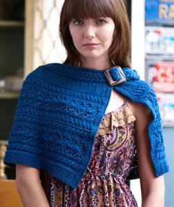 Rowan Denim Polperro Cape Kit - Scarf and Shawls