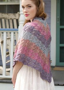 Rowan Purelife Revive Bronte Fichu Shawl Kit - Scarf and Shawls