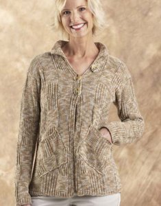 Trendsetter Acacia Checkerboard Cardigan Kit - Women's Cardigans
