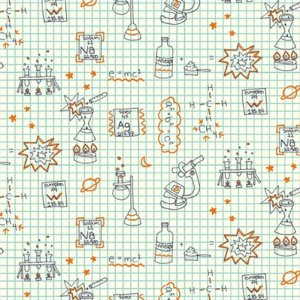 Birch Fabrics Robotic Fabric - Graph Paper (RG-17)