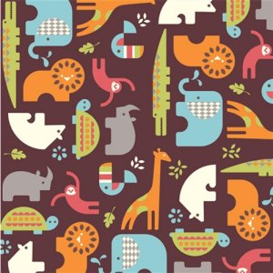 Birch Fabrics Safari Soiree Fabric - Soiree Brown (DS-14)