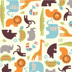 Birch Fabrics Safari Soiree Fabric - Soiree Cream (DS-14)