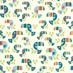 Birch Fabrics Safari Soiree Fabric - Toucan Tango (DS-18)