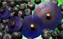 Jul Resin Pedestal Buttons - Blueberry - Small 1.25""