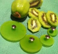 Jul Resin Pedestal Buttons - Kiwi - Small 1.25""