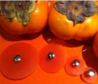 Jul Resin Pedestal Buttons - Persimmon - Small 1.25""
