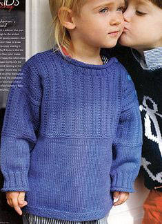 Debbie Bliss Baby Cashmerino Guernsey Style Sweater Kit - Baby and Kids Pullovers