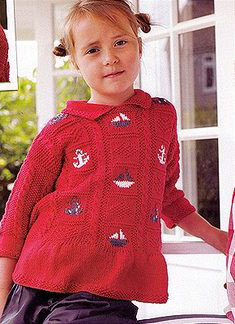 Debbie Bliss Eco Baby Tunic with Nautical Motifs Kit - Baby and Kids Pullovers