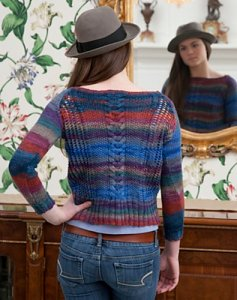 Classic Elite Liberty Wool Print Dandy Pullover Kit - Women's Pullovers