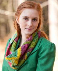 Classic Elite Liberty Wool Print Mitered Cowl Kit - Scarf and Shawls
