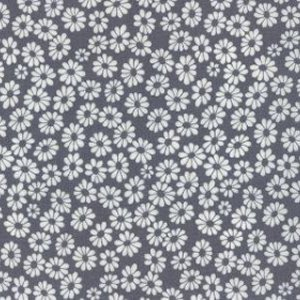 Me and My Sister Shades of Black Fabric - Mini Flowers - Grey (22164 33)