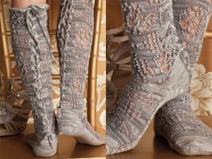 Lorna's Laces Helen's Lace & Solemate Lace Stockings Kit - Socks