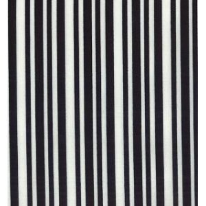 Me and My Sister Shades of Black Fabric - Laughing Stripes - White/Black (22196 34)
