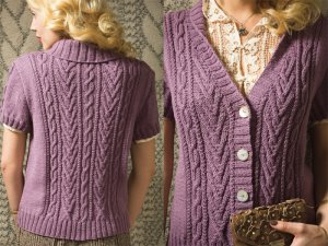 Rowan Wool Cotton Cap Sleeve Cardi Kit - Women's Cardigans
