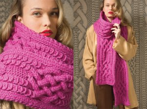 Rowan Big Wool Oversize Scarf Kit - Scarf and Shawls