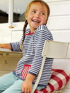 Debbie Bliss Eco Baby Striped Sweater Kit - Baby and Kids Pullovers