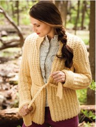 Plymouth Baby Alpaca Grande Belted Cardigan Kit - Women's Cardigans