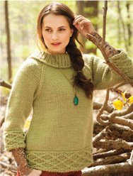 Brown Sheep Lamb's Pride Bulky Funnel Neck Pullover Kit - Women's Pullovers