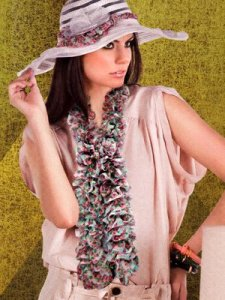 Circulo Tecido Trico or Renda Trico Margarida Scarf Kit - Scarf and Shawls