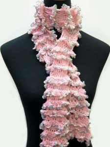 Knitting Fever Petals Ruffle Scarf Kit - Scarf and Shawls