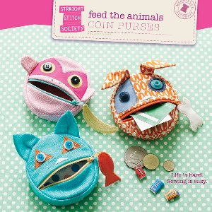 Straight Stitch Society Sewing Patterns - Feed the Animals Coin Purses Pattern