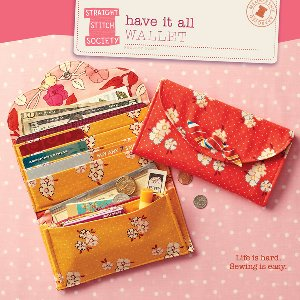 Straight Stitch Society Sewing Patterns - Have It All Wallet Pattern